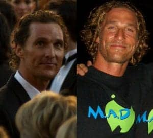 Pictured on the left at the 83rd Academy Awards, McConaughey's bro flow hair projects an effortless coolness. On the right, Mcconaughey's lax bro cut highlights the actor's carefree attitude while on vacation in Australia while also making him seem like he isn't trying to hard to appear relaxed.