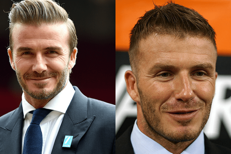 "David Beckham new hair 2018 photos show that the star has found a look that works for him. Working with a shorter length on the back and sides while leaving the top a bit longer helps to combat the appearance of thinning. Men's hair stylists often report being asked ""how to style your hair like David Beckham"" several times a week."