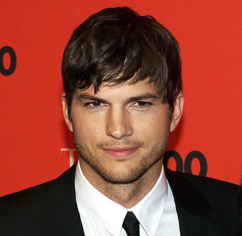 Ashton Kutcher may have undergone chin augmentation for a more square shaped, wider face.