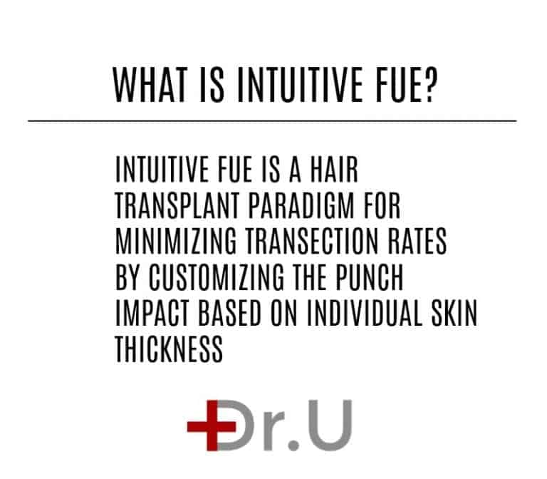 Intuitive FUE offers a new and unprecedented approach for minimizing hair transplant graft transection rates.