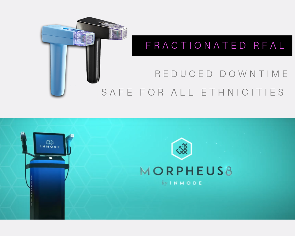 Morpheus 8 handpieces are used with a workstation platform which generates and controls radiofrequency energy used for improving face and body contours