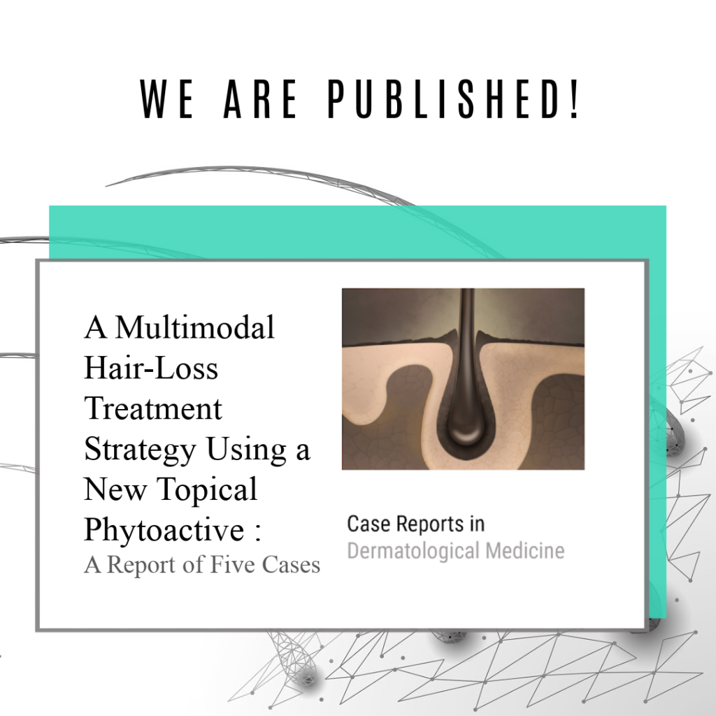 GASHEE Publication - Case Studies in Dermatological Medicine ( Multi-Modal Hair Loss Treatment Using A New Topical Phytoactive